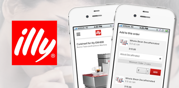Illy mobile website